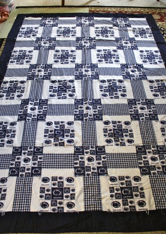 Penn State Quilt Twin Size by SewHappy247 on Etsy, $175.00 ...