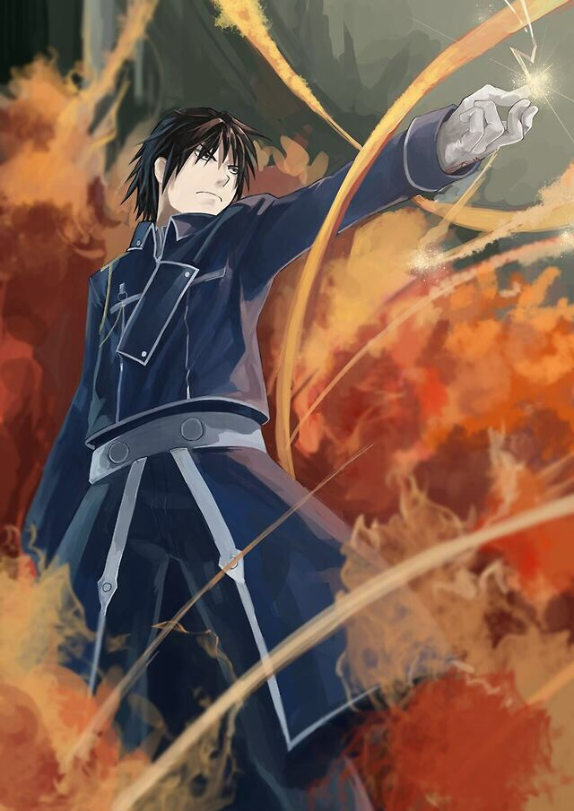 Roy Mustang ablaze with fury from FMA: Brotherhood!