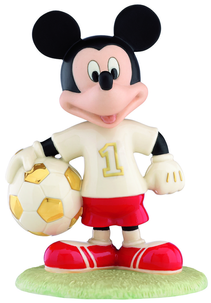 Great Gifts for Guys. @Senya Speaks 'Soccer Star Mickey' is the latest in the Lenox range of Mickey & Minnie figures. Crafted of hand-painted Lenox ivory fine china and accented with 24 karat gold, Soccer Star Mickey is 15cm high and beautifully gift boxed. Perfect for the soccer star in your family. $125 Fine China • Second Floor