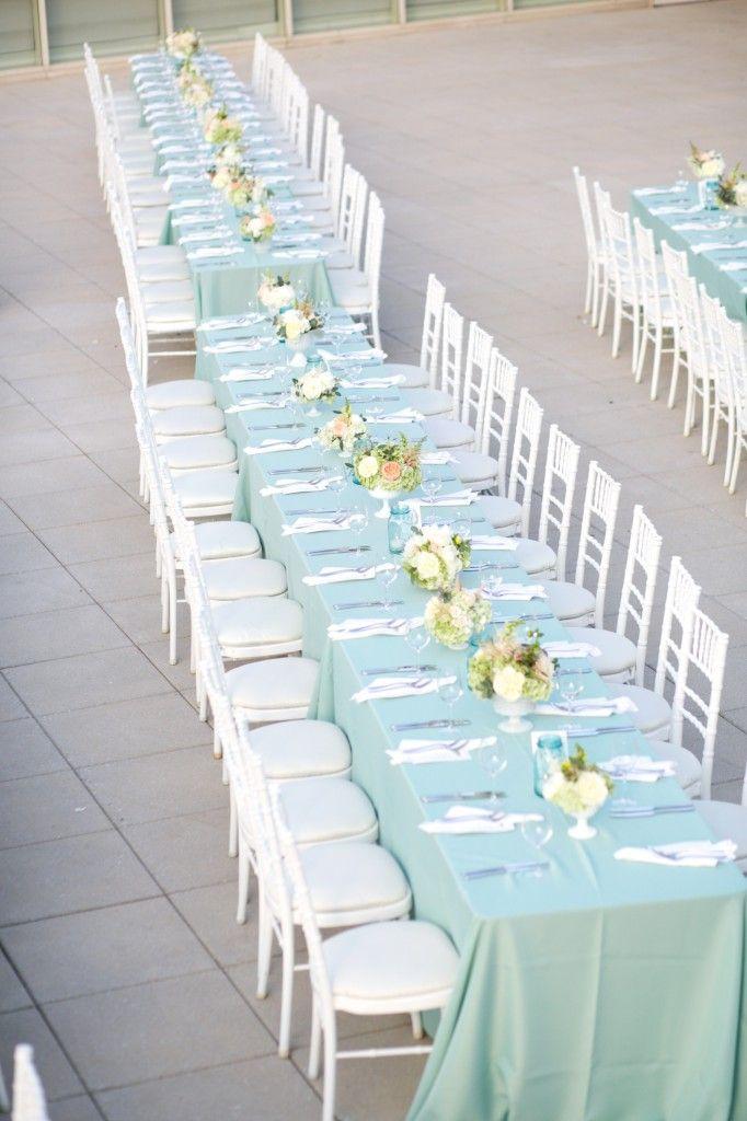 long table setup wedding reception%0A Light Blue Wedding Table