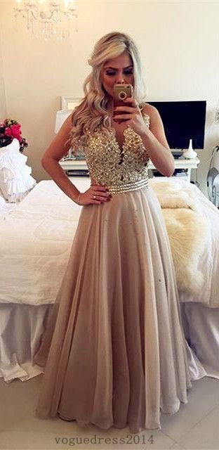 Sheer Illusion A-Line Prom Dresses 2016 Floor Length Lace Evening Gowns with Beadings