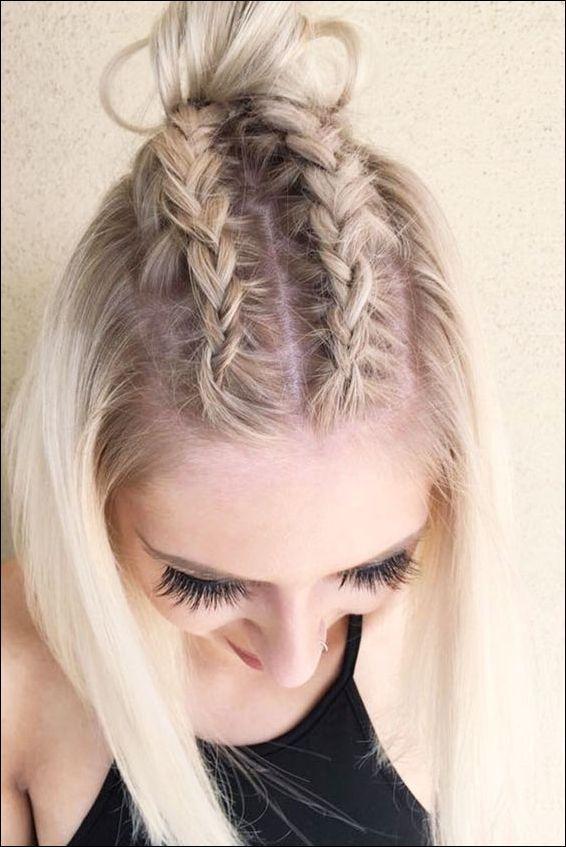 Schone Geflochtene Frisur Ideen Fur Kurzes Haar Neue Frisur Stil