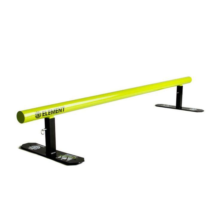 Element Skateboard Rails - Element Nyjah Flat Round Skateboard Rail - Yellow