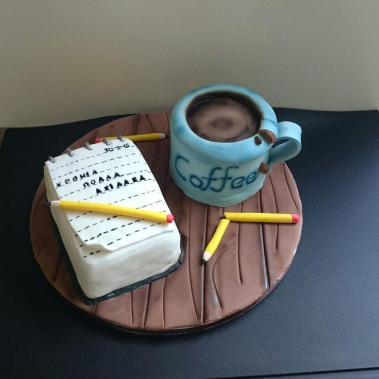a cup of coffee & your thoughts - Cake by nef_cake_deco