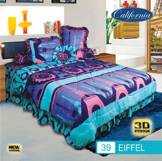 Sprei Set (King 180×200) motif Eiffel Premium Lembut. Takut tidak sesuai Ukuran (kekecilan/kebesaran) ??? Kami beri garansi 30 Hari.