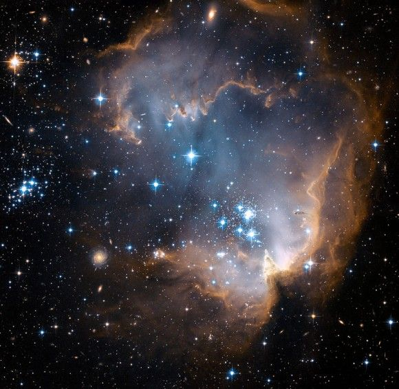 Hubble observes infant stars ~ from @universe today