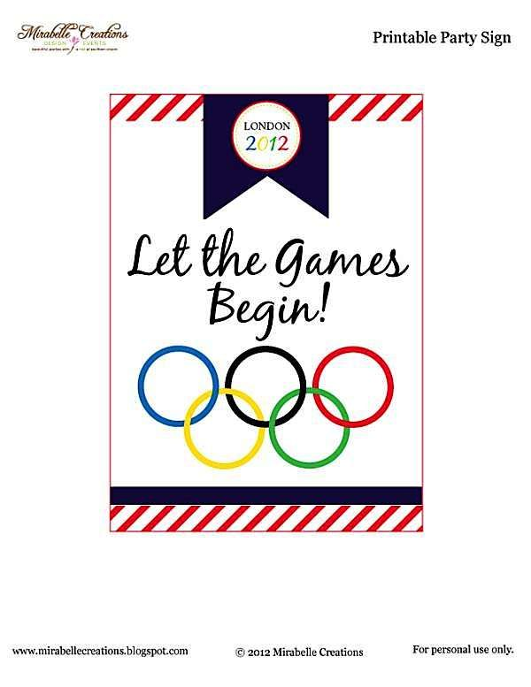 Olympic Themed Party- Free Printables! - Kara's Party Ideas - The Place for All Things Party