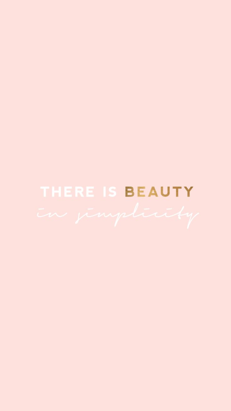 Pink and gold quote iPhone wallpaper