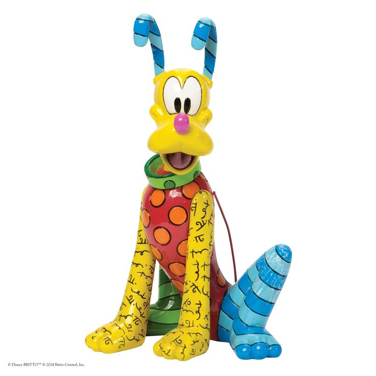Pluto Figurine 4037546 Pluto makes his debut to Disney by Britto getting the pop art treatment of Romero Britto #disney #britto #popart