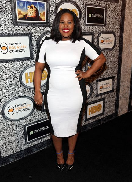 GET THE LOOK: AMBER RILEY IN SIMPLY BE MONOCHROME ILLUSION DRESS AT THE FAMILY EQUALITY'S COUNCIL'S ANNUAL LOS ANGELES AWARDS DINNER