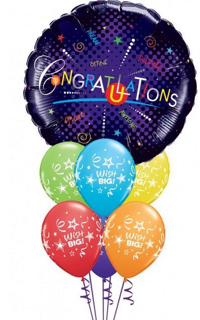 """No es necesario un cumpleaños para felicitar. Envía este globo de """"Felicidades"""" en cualquier ocasión especial, desde una graduación hasta un nuevo trabajo. https://azapregalos.com/florerias/df/globos/globos-congratulations"""