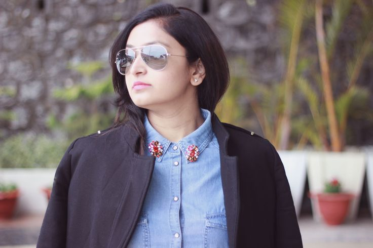 BLOGGED: As always Hem Jadeja, blogger @fashionfactive looked gorgeous in our collar pins. #blogger #collarpin  Shop this look here >> http://buff.ly/1Ocph39