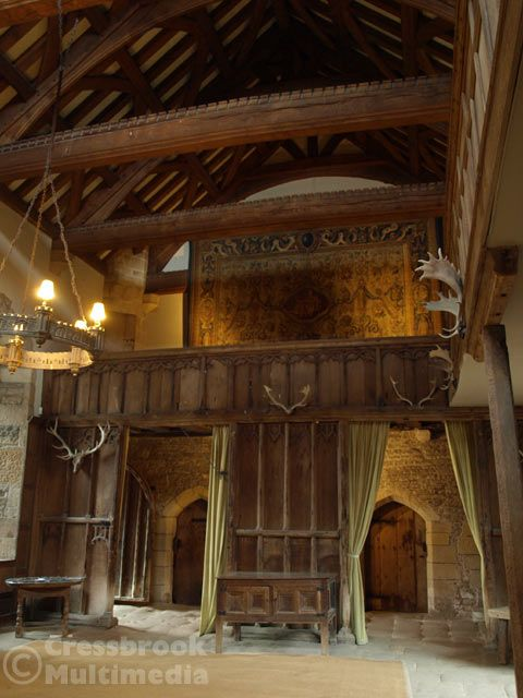 Haddon Hall, medieval manor house, UK. Nice plain panelling, not too church-ey.