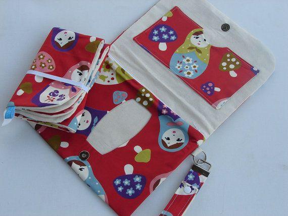 Russian Babushka doll pattern nappy wallet by BitsandBobs4Bubs, $45.00