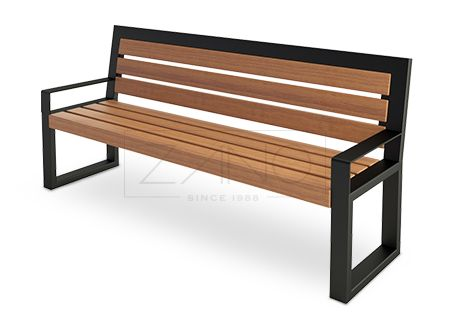 nowoczesne ławki ze stali czarnej