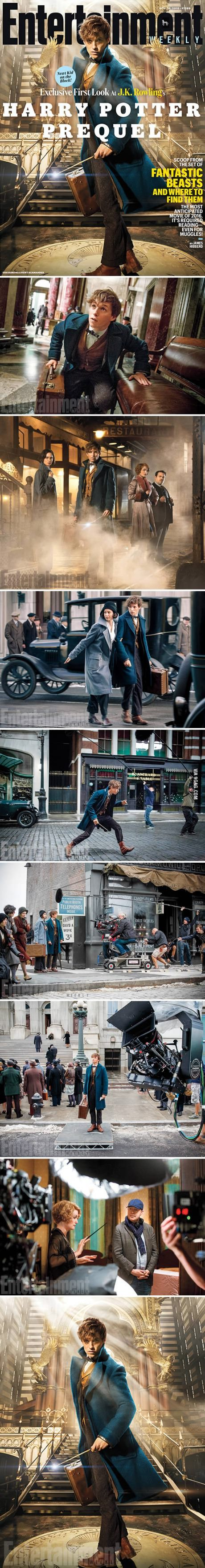 """First Photos From Harry Potter Prequel """"Fantastic Beasts And Where To Find Them""""--can't wait!!!!!"""