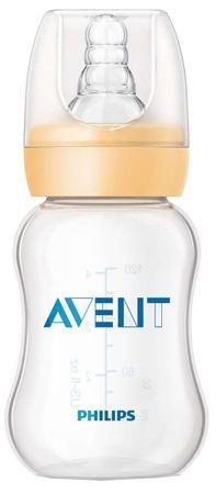 Standard с силиконовой соской 0+, 125 мл.  — 259р. ------------- Бутылочка Philips AVENT Standard сделает кормление Вашего малыша значительно проще. Ребра жесткости упрощают захват соски. Благодаря эргономичной форме бутылочку удобно держать как маме, так и малышу, а антиколиковая система позволяет попадать воздуху во время кормления в бутылочку, а не в животик малыша. Бутылочка не протекает во время кормления, а колпачок плотно закрывает соску, обеспечивая надежное хранение и перемещение с…