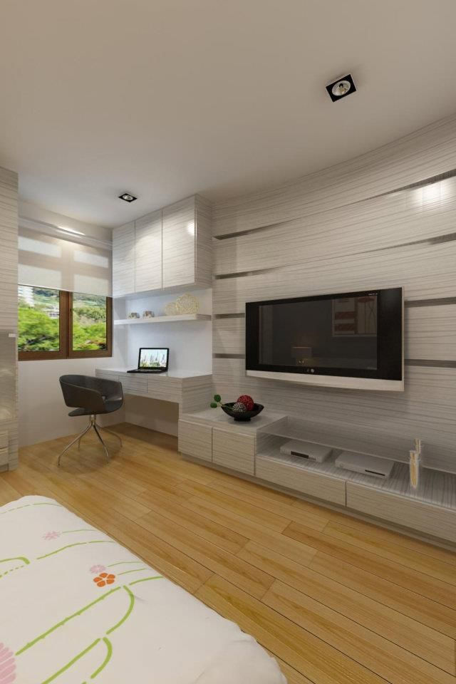 32 best bedroom study table cum tv units images on pinterest desks entertainment centers and - Tv panel for living room ...