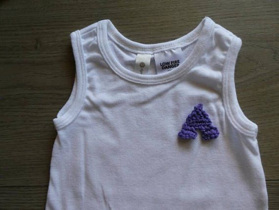 Baby boy onesie / bodysuit with crochet embellishment