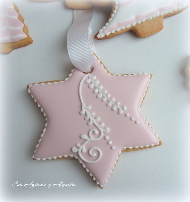 Galletas Navide Ef Bf Bdas Decoradas Con Chocolate Blanco