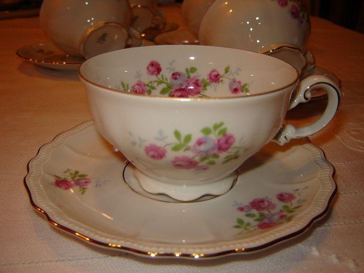 Taza de te porcelana alemana pmr bavaria jaeger co for Tazas porcelana