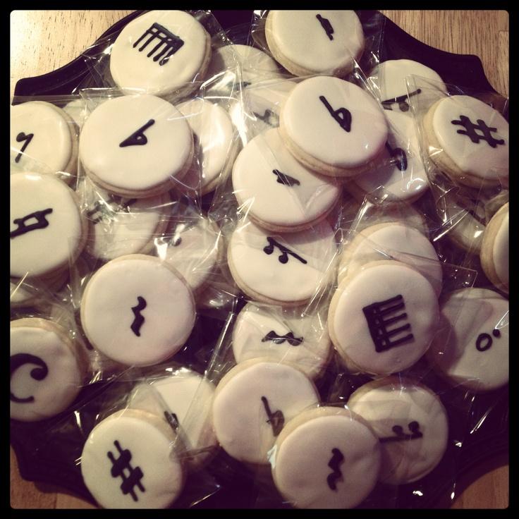 Cookies for piano recital