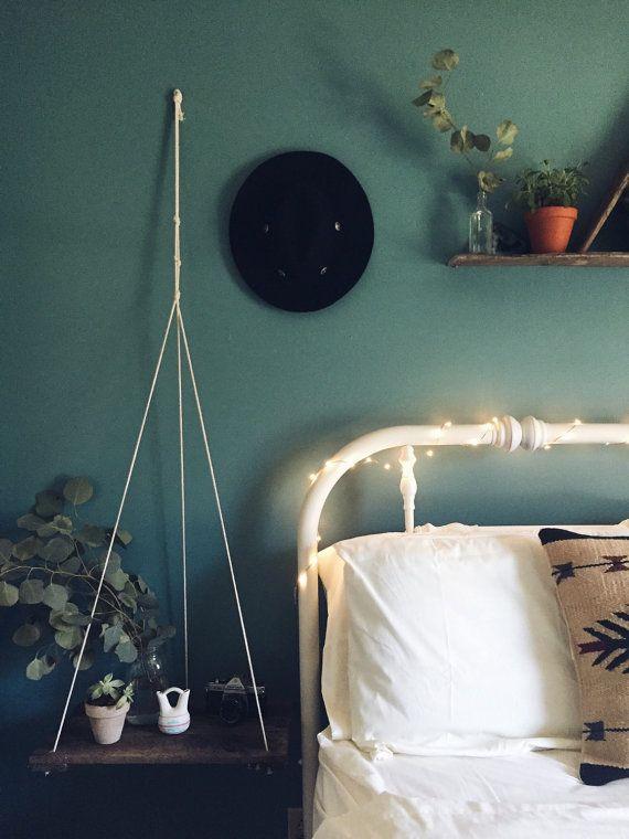 Hanging Shelf// Reclaimed Wood// Pallet Shelf// Swing Shelf// Reclaimed Wood Shelf// Suspended Shelf// Wall Art// Pallet Art