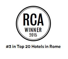 Top 3 Hotels in Rome by Condé Nast Reader's Choice 2015.