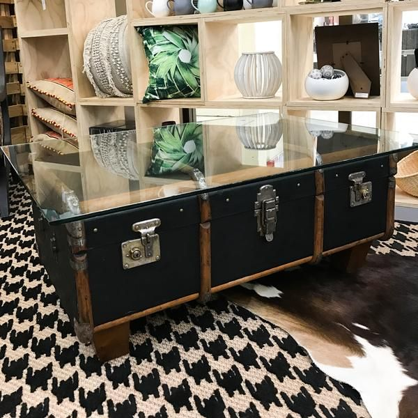 Fully restored and repurposed suitcase coffee table.