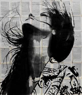 "Saatchi Art Artist Loui Jover; Drawing, ""wild flower"" #art"