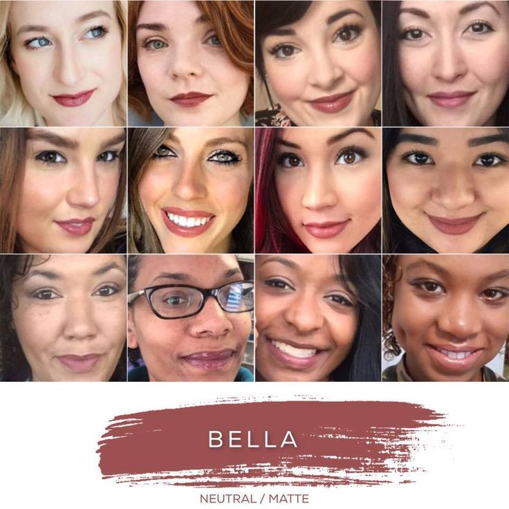 LipSense Color Collage: Bella LipSense // SeneGence independent distributor #237343