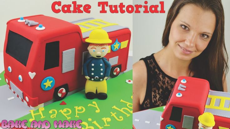 Fireman Sam Fire Truck Cake Tutorial. How to. Bake and Make with Angela ...