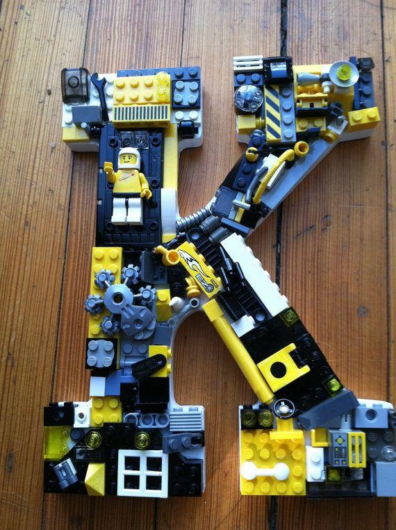 Reserved custom mosaic Lego letter K by MosaicTreasureBox on Etsy