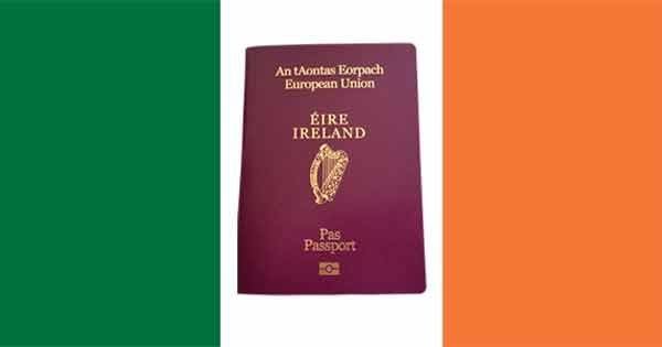 Irish Passport On Irish Flag Irish Ireland How To Become