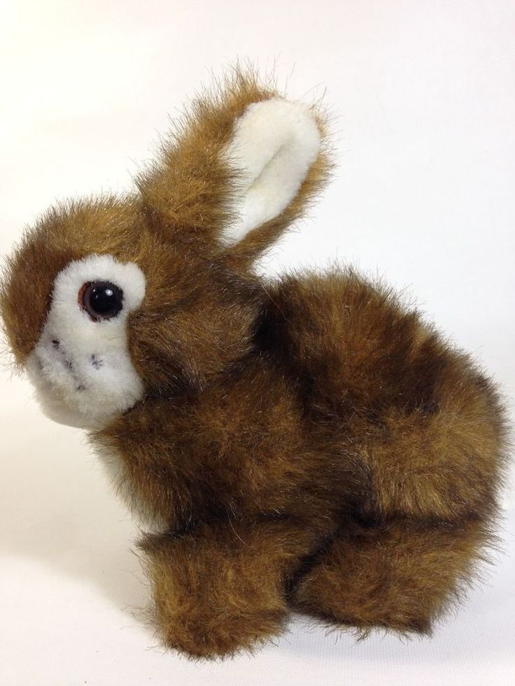 "Godiva Chocolatier Brown Bunny Rabbit Plush 6"" Soft Furry Stuffed Animal Toy"