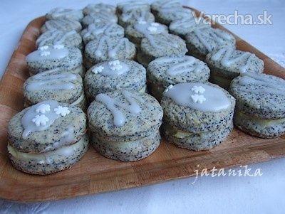 Makové koláčiky s citrónovým krémom (fotorecept)