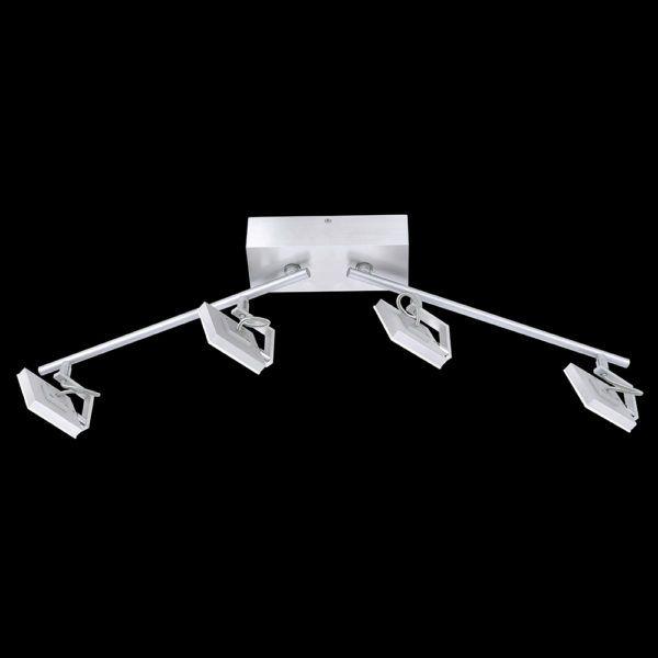 Deckenleuchte mit 4 LED-Spots in Chrom, elegante Design#led - badezimmer led deckenleuchte ip44
