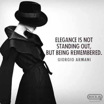Giogio Armani Style Quote