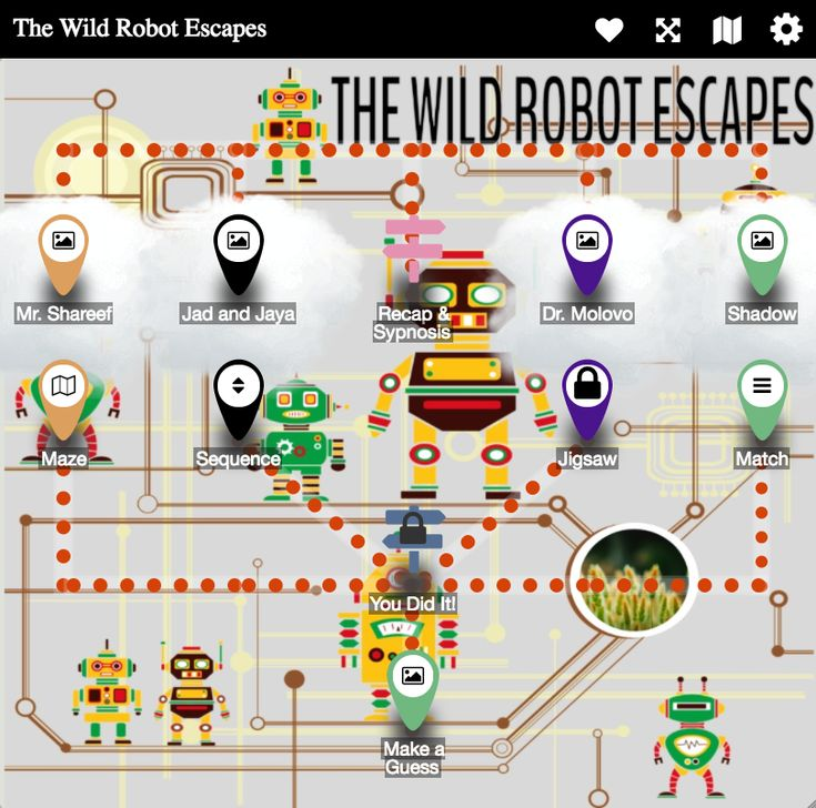 The Wild Robot Escapes Understand the new characters around Roz in her new life (Digital Breakout + Flipgrid)