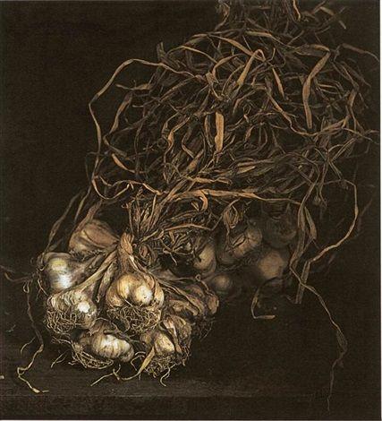 Garlic by Craigie Horsfield. Te zien in de tentoonstelling Craigie Horsfield: How the World Occurs. 30 oktober - 5 februari 2017 in het Centraal Museum Utrecht.