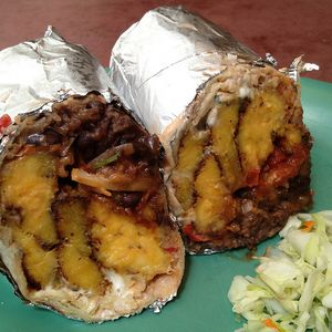 10 Best Places To Get A Burrito In San Francisco -- holy hell a plantain burrito want.