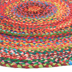 Atrium Cotton Rainbow Round Rug | Sizes Available | Best Selling Natural Rugs @ The Home