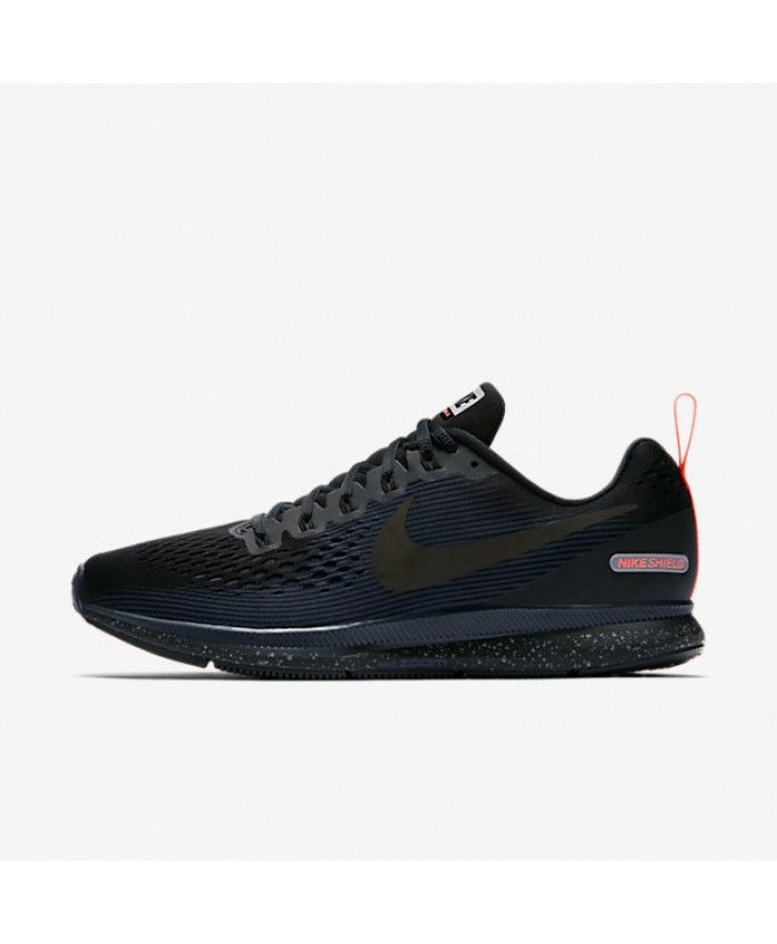 c6990a45fc561 Nike Air Zoom Pegasus 34 Shield Black Black Obsidian Black 907327 ...
