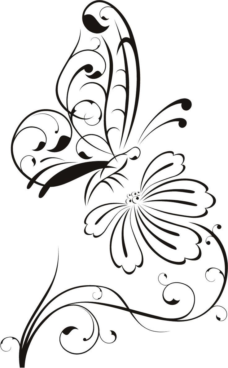 Line Art Flower Stencil Designs : Best flower outline ideas on pinterest design