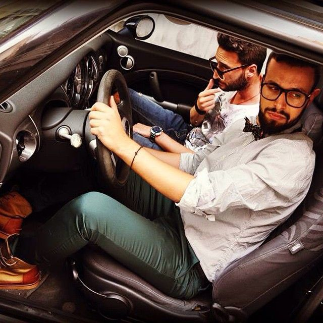 #cruising #fellas driving 2 the #party #johnandy #scotchandsoda #minicooper #newcollection #winter 2014-15