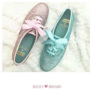 Women - KEDS X kate spade new york CHAMPION GLITTER - Rose Gold Glitter | Keds