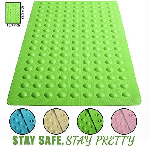 Brooklyn Ice 157x275Inch Anti Slip Suction Bath Mat Green >>> You can find out more details at the link of the image. Note:It is Affiliate Link to Amazon.