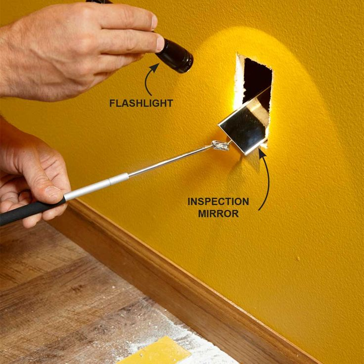 Get a Better View With an Inspection Camera - 14 Tips for Fishing Electrical Wire Through Walls: http://www.familyhandyman.com/electrical/wiring/fishing-electrical-wire-through-walls