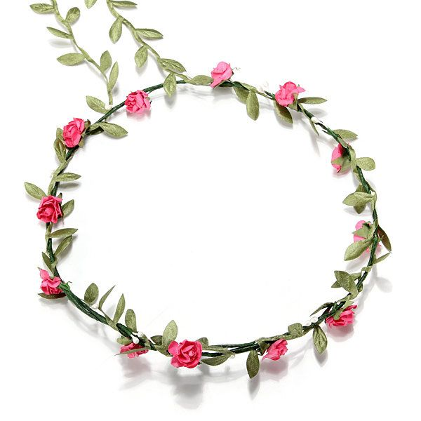 Boho Style Festival Wedding Flower Floral Headband Garland Hair Head Band