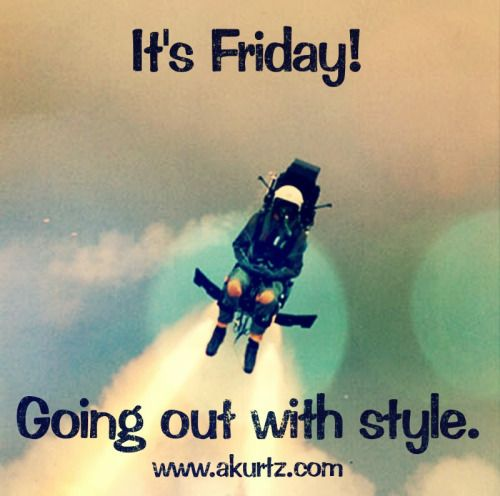 It's Friday! Going out with style ;-) www.akurtz.com